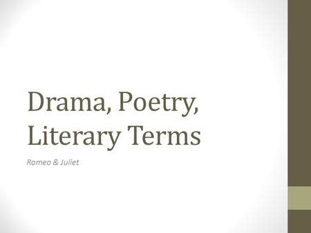 Poem analysis literary devices